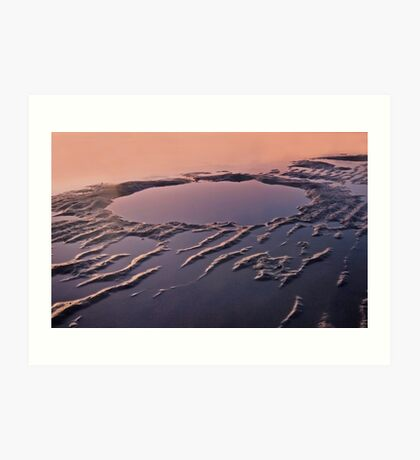Mud Magic - Nudgee Beach Qld Art Print