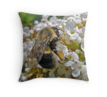 Busy Bumble Bee Throw Pillow