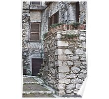 Homely Stone Entrance in Fumone Italy Poster