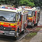 Brisbane Floods 2011 - Clean Up - Fire & Rescue by Neil Ross