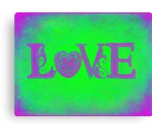 Funky Groovy Love... Canvas Print