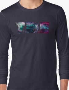 TDE TOP DAWG TRIPPY PURPLE TEAL GREEN BLUE NEBULA  Long Sleeve T-Shirt