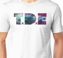 TDE TOP DAWG TRIPPY PURPLE TEAL GREEN BLUE NEBULA  Unisex T-Shirt