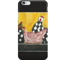 Some Painted Poultry:-) iPhone Case/Skin