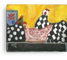 Some Painted Poultry:-) Canvas Print