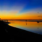 Pre dawn at Shorncliffe. Brisbane, Queensland, Australia. by Ralph de Zilva