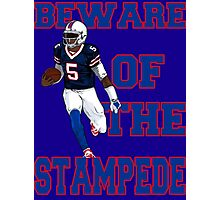 Tyrod Taylor - Beware Of The Stampede Photographic Print