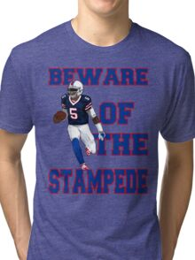 Tyrod Taylor - Beware Of The Stampede Tri-blend T-Shirt