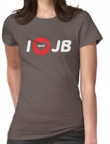 i heart justin bieber Womens Fitted T-Shirt