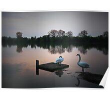 Clattercote reservoir Poster