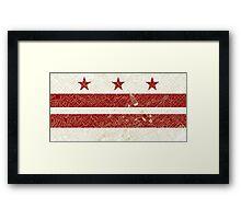 DC Flag w/ Vintage Map  Framed Print