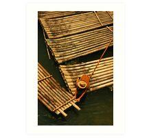 The Boatman, Yangshuo, China Art Print