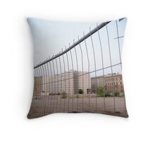Worn Out Fence Throw Pillow