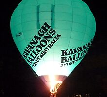 Balloons at Canowindra - Balloon Glow by DashTravels