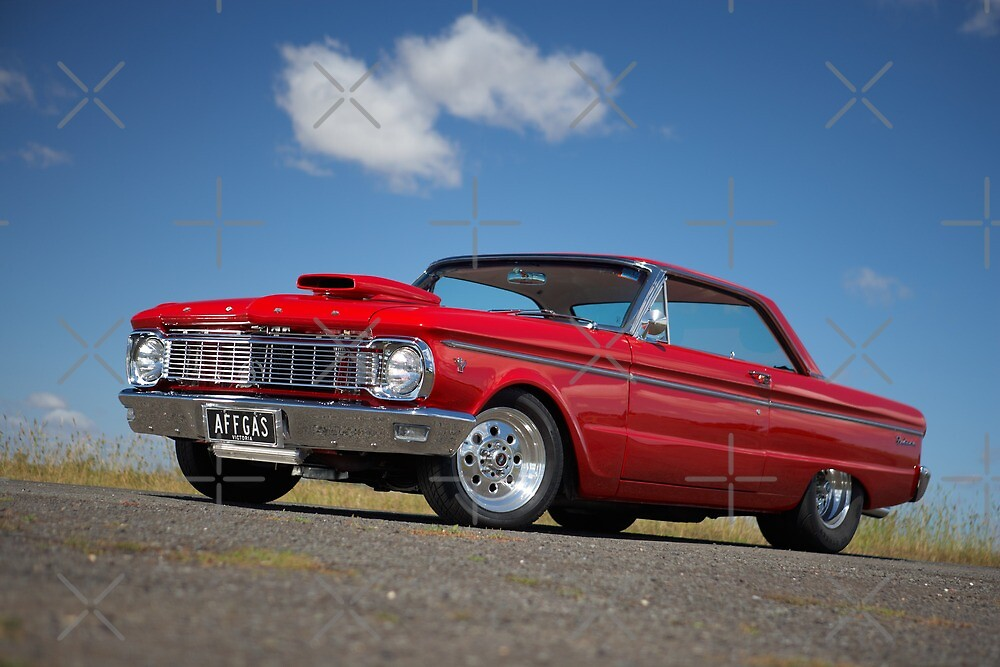 Red Ford Falcon XP Coupe by John Jovic