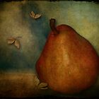 Red Williams Pear - Still Life by Sybille Sterk
