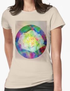 Rainbow rose Womens Fitted T-Shirt