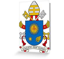 Papal Coat of Arms for Pope Francis on white Greeting Card