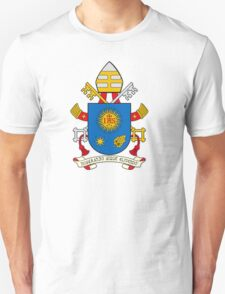 Papal Coat of Arms for Pope Francis on white T-Shirt