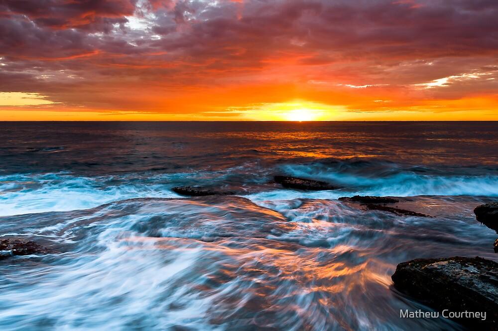 Sky Ablaze - Terrigal by Mathew Courtney