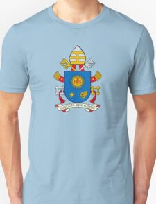 Papal Coat of Arms for Pope Francis on blue T-Shirt