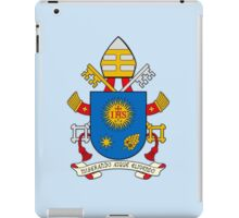 Papal Coat of Arms for Pope Francis on blue iPad Case/Skin