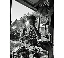 old lady smoking Photographic Print
