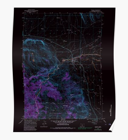 USGS Topo Map Oregon Paisley 281031 1966 24000 Inverted Poster