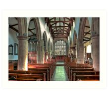 St Andrew Church - Dent,Cumbria Art Print
