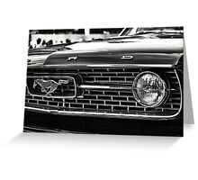 close up of Ford Mustang Greeting Card
