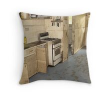 Brisbane Floods 2011 - Clean Up - The Granny Flat Throw Pillow