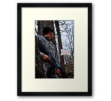 Hiding from the Enemy Framed Print
