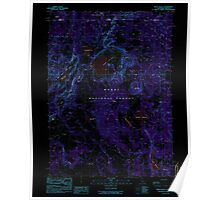 USGS Topo Map California Weed Valley 295687 1990 24000 Inverted Poster