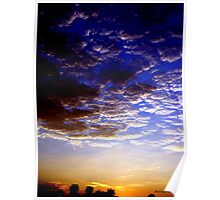 colorful sky Poster