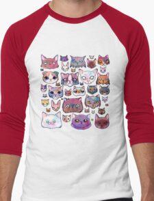 Feline Faces Men's Baseball ¾ T-Shirt