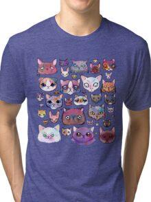 Feline Faces Tri-blend T-Shirt
