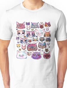 Feline Faces Unisex T-Shirt