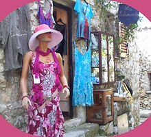 Stylish summer dresses in a village by daffodil
