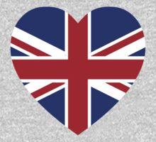 Union Jack Heart Kids Tee