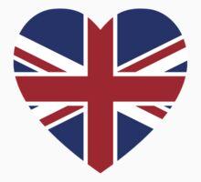 Union Jack Heart Baby Tee