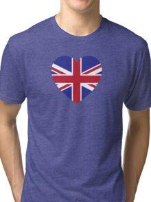 Union Jack Heart Tri-blend T-Shirt