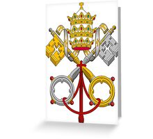 Papal Coat of Arms crossed keys Greeting Card