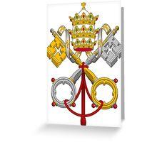 Papal Coat of Arms crossed keys Greeting Card