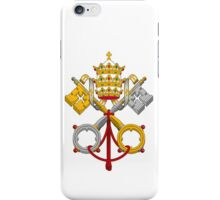 Papal Coat of Arms crossed keys iPhone Case/Skin
