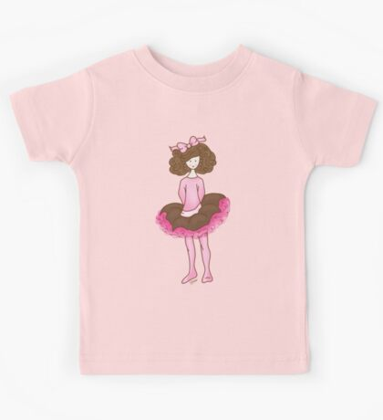 Cute Girl - Pink Dancer Kids Tee