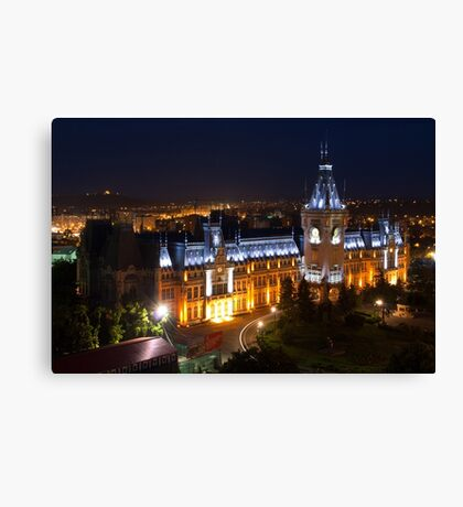 Palace of Culture by night  Canvas Print