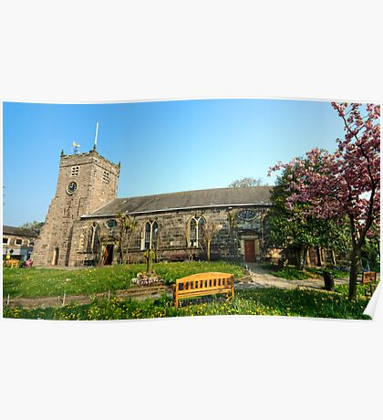 St Chad's Church and Church Yard Poulton Le Fylde Poster