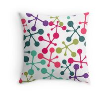 Chemistry. Colorful molecule shapes Throw Pillow