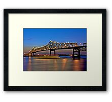 River Traffic - Above and Below Framed Print