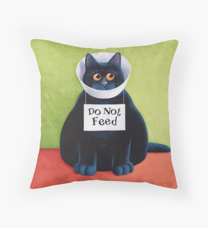 Do Not Feed Throw Pillow